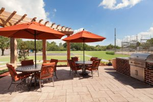 Outdoor Seating area with grill